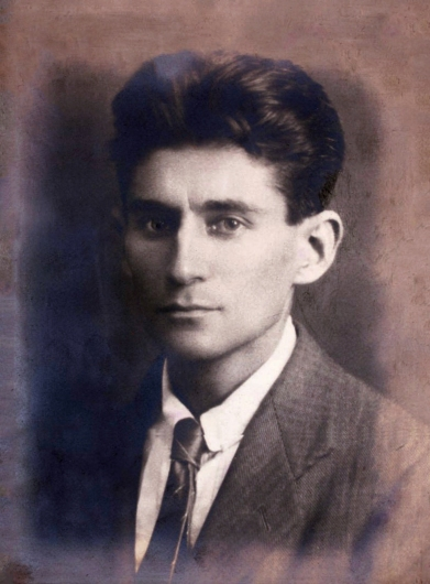 a portrait for author franz kafka