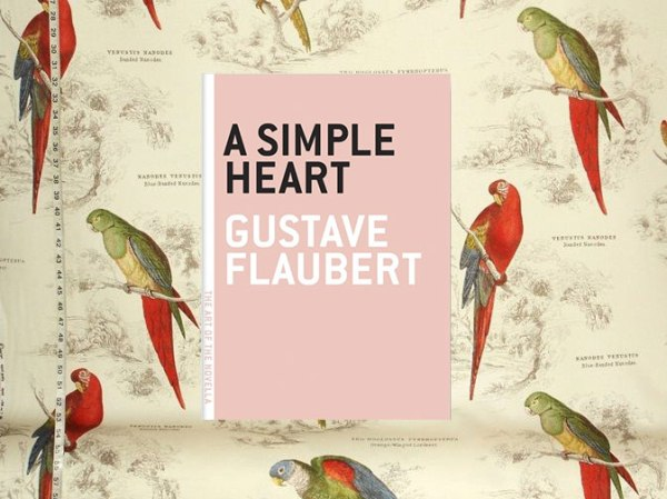 cover of the short story titled 'a simple heart' written by Gustave Flaubert
